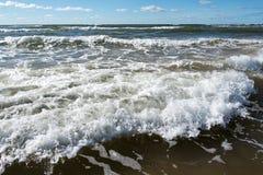 波罗的海波浪 免版税库存照片