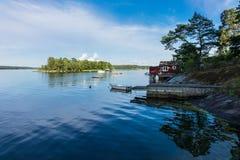 波罗的海海岸的群岛 库存图片