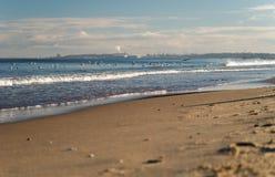 波罗的海海岸,在海鸥的看法,格但斯克,波兰 免版税库存图片