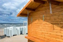 波罗的海海滩本季末 免版税库存照片