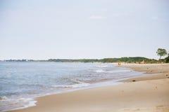 波罗的海狂放的海滩 库存图片