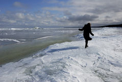 波罗的海由冰盖 免版税库存照片