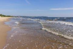 波罗的海的岸在索波特,波兰 库存照片