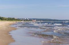 波罗的海的岸在索波特,波兰 图库摄影