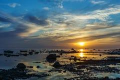 波罗的海的日落 免版税库存图片
