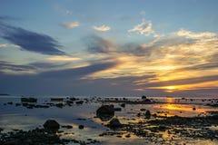 波罗的海的日落 免版税库存照片