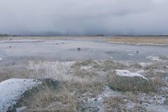 波罗的海的沙丘在11月 库存照片