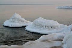 波罗的海的海岸的弗罗斯特 33c 1月横向俄国温度ural冬天 免版税图库摄影