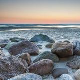 波罗的海的美丽的景色波兰镇的Rozewie 图库摄影