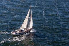 波罗的海/瑞典- 2014年7月31日:游艇巡航 免版税库存照片