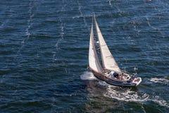 波罗的海/瑞典- 2014年7月31日:游艇巡航 库存图片