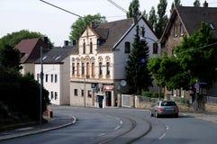 波肯街道-德国城市 库存照片