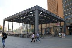 波茨坦广场标记 库存照片