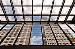 从波茨坦广场看见的摩天大楼在柏林 库存图片
