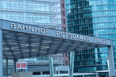 波茨坦广场S-Bahn驻地 免版税库存图片