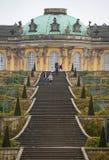 波茨坦,德国2017年11月10日:巴洛克式和洛可可式的皇家住所在公园Sanssouci,波茨坦,德国 免版税图库摄影