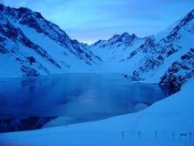 波蒂略滑雪胜地,在安地斯山脉,智利 免版税库存图片