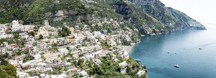 波西塔诺和阿马尔菲海岸 库存照片