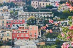 波西塔诺,意大利风景看法  免版税图库摄影