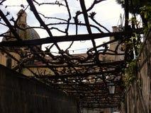 波西塔诺-有荫径的胡同 库存照片