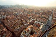 波隆纳一点红・意大利romagna视图 免版税库存照片