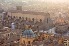 波隆纳一点红・意大利romagna视图 免版税库存图片
