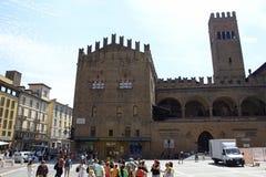 波隆纳城市中心广场意大利 免版税库存照片