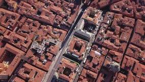 波隆纳意大利鸟瞰图 股票视频