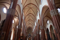 波隆纳老镇教会 库存图片