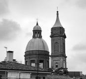 波隆纳,意大利:都市建筑学在市中心 库存图片