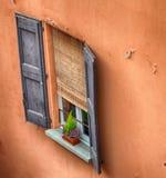 波隆纳,意大利:都市建筑学在市中心 免版税库存图片