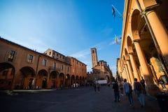 波隆纳,意大利- 2017年10月:伊米莉亚罗马甘地区波隆纳,资本和大城市街道在北意大利 免版税图库摄影