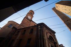 波隆纳,意大利- 2017年10月:伊米莉亚罗马甘地区波隆纳,资本和大城市街道在北意大利 库存照片