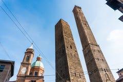 波隆纳,意大利- 2017年10月:街道的看法在老城波隆纳,意大利 图库摄影