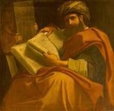 波隆纳,意大利- 2018年4月18日:先知米迦绘画在教会基耶萨di圣Benedetto里贾科莫Gavedoni 免版税库存图片