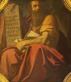 波隆纳,意大利- 2018年4月18日:先知艾赛尔绘画在教会基耶萨di圣Benedetto里贾科莫Gavedoni 免版税库存照片