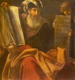 波隆纳,意大利- 2018年4月18日:先知Zechariah绘画在教会基耶萨di圣Benedetto里贾科莫Gavedoni 免版税库存图片