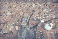 波隆纳,意大利- 2016年3月05日, :街市st的全视图 免版税库存图片