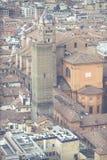 波隆纳,意大利- 2016年3月05日, :街市st的全视图 库存图片