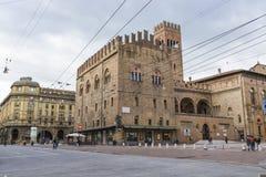 波隆纳,意大利- 2016年3月05日, :街市str的全视图 免版税库存图片