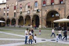 波隆纳,意大利Porticoes  免版税库存照片