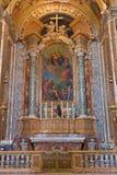 波隆纳-在Dom礼拜堂-有玛丹娜油漆的圣彼得巴洛克式的教会由M的 Franceschini (1648 - 1739) 免版税库存图片