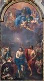 波隆纳-基督洗礼从17的Ercole Graziani 分 在Dom -圣彼得巴落克式样教会 图库摄影