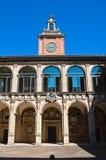 波隆纳Archiginnasio。 伊米莉亚-罗马甘。 意大利。 库存照片