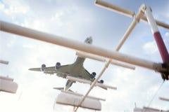 747波音着陆 库存照片