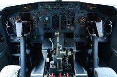 737波音驾驶舱 免版税库存图片