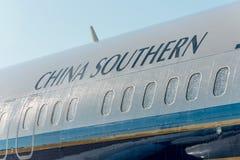 波音737-8南部最大的中国,机场普尔科沃,俄罗斯圣彼德堡 2018年6月02日 免版税库存照片