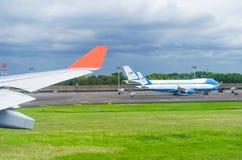 波音757和747美国印度尼西亚, 2011年11月总统, 免版税库存照片