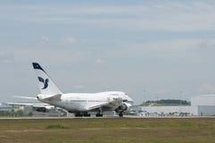 波音747离开 免版税库存图片