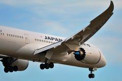 波音787-8日航 免版税图库摄影